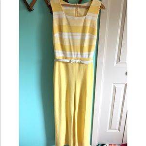 VTG 70s Striped Flare Leg Belted Jumpsuit